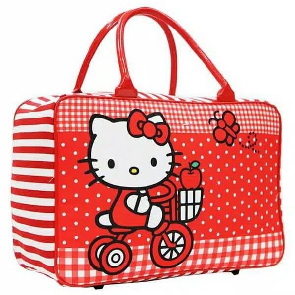 0d02e3a9071f Jual TRAVEL BAG MURAH SUPER KANVAS KARAKTER DEWASA hello kitty TAS ...