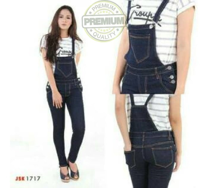 Jual Stile Store Celana Kodok Panjang Overall Skinny Jeans Denim