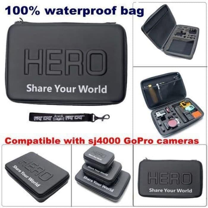 harga Hero waterproof eva big size case for gopro xiaomi yi xiaomi yi 2 Tokopedia.com