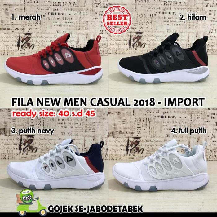 FILA 2018 New Men Casual Shoes Impor. sepatu pria. sepatu fila - Putih  Navy 53904e171e