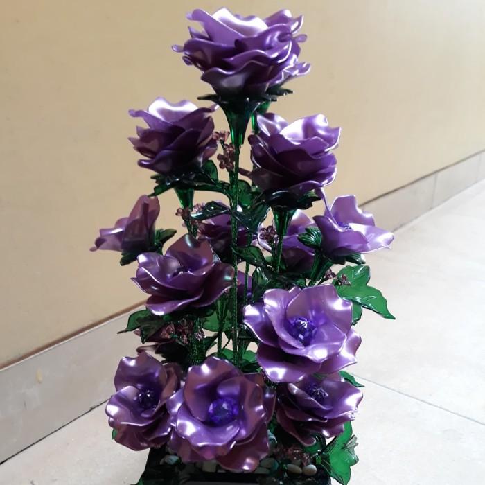 Jual Bunga Akrilik Rose Warna Ungu Ungu Kota Bekasi Akrilik Lidia Tokopedia