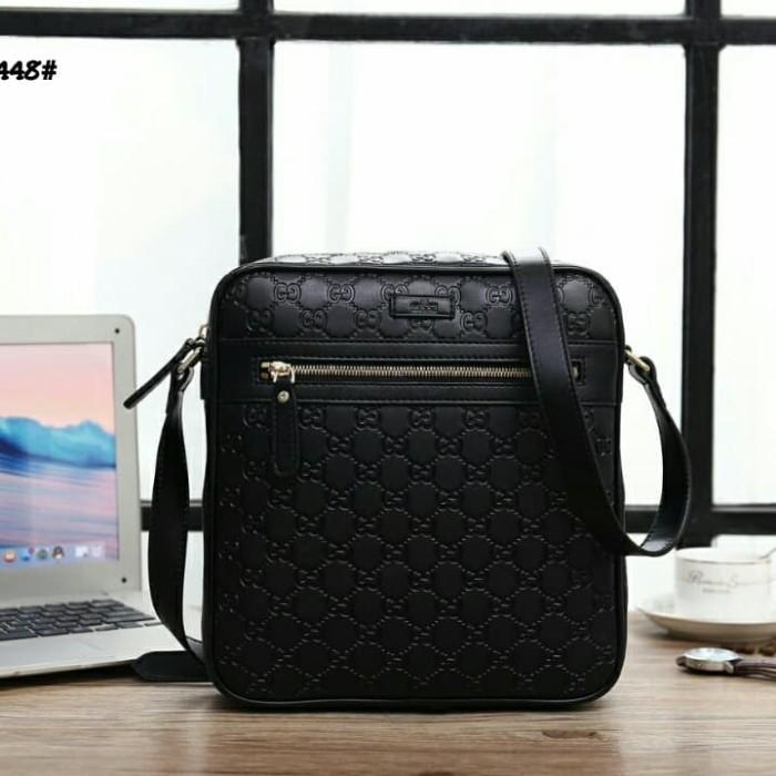 87629830e74f Jual Gucci GG Signature Leather Messengers Bag 201448# Bahan ...