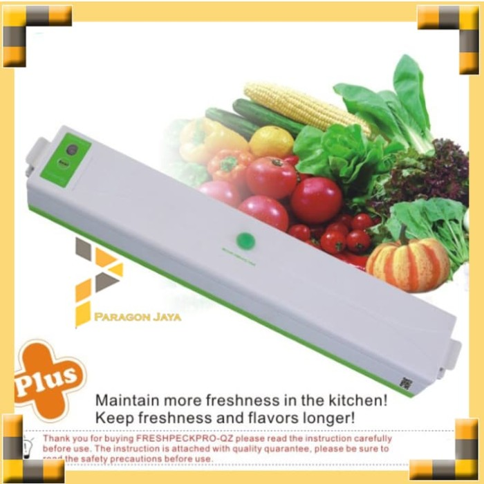 Foto Produk Food Vacum Vakum Vacuum Sealer Makanan 100watt Portable Sealing System dari ParagonJaya