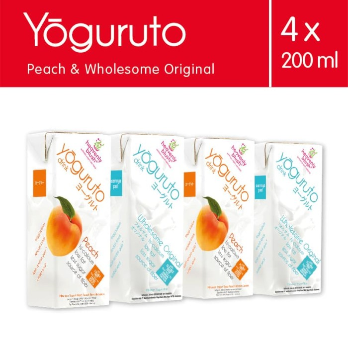 Heavenly Blush Yogurt Drink To Go 2 Peach, 2 Plain