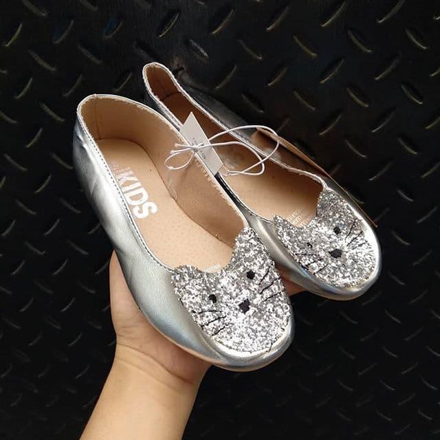 sepatu cotton on kids ballet flats glitter cat