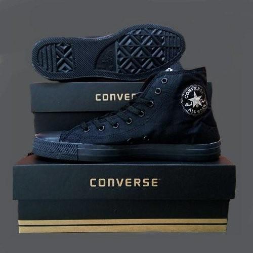 Jual Termurah Sepatu Converse All Star Grade Ori Hitam Polos Pria ... 31cbb48b45