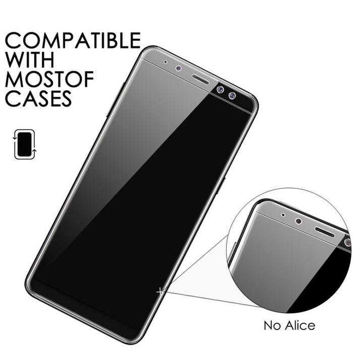 Anti Gores Screen Guard Jelly Anti Shock Clear Lentur Samsung S8 Plus