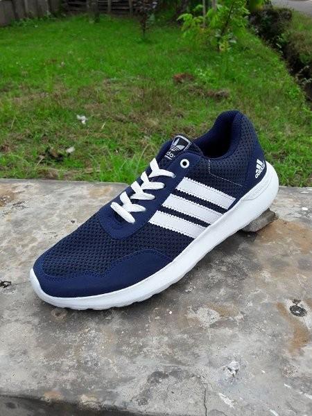 Jual EKLUSIIF Sepatu Pria Jumbo Adidas Neo V Racer Cloudfoam Navy ... e9925398a
