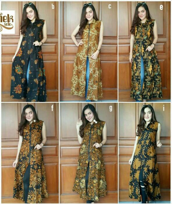 harga Tunik cardi batik - tunik / dress / rok blus / baju batik solo Tokopedia.com