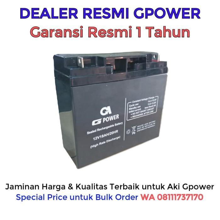 12v 18ah Battery >> Jual Aki Ups Gpower 12v 18ah Batere Ups Battery Ups Accu Ups Dki Jakarta Epu Express Os Tokopedia