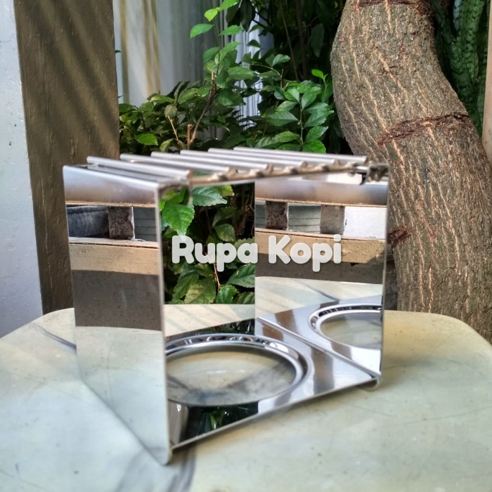harga Moka pot stand / mini gas burner stand full stainless steel Tokopedia.com