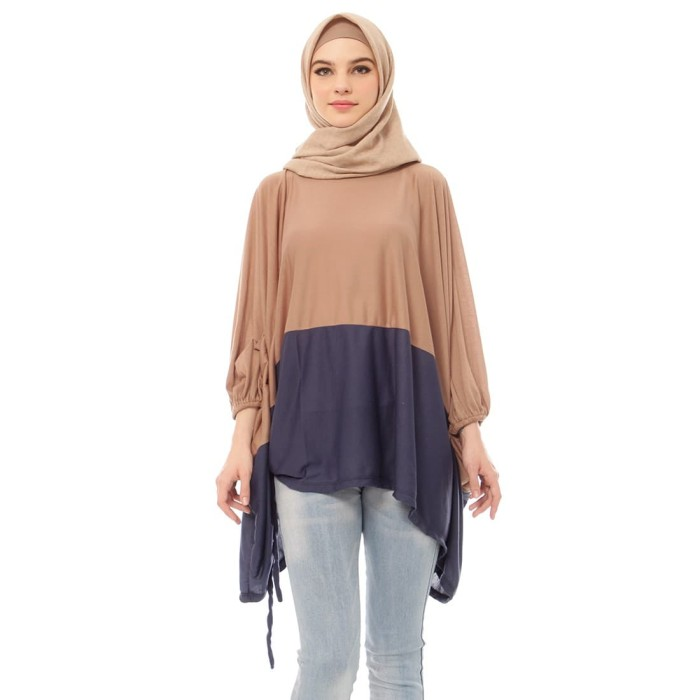 Mybamus two tone wings top mocca navy m14249d r71s1