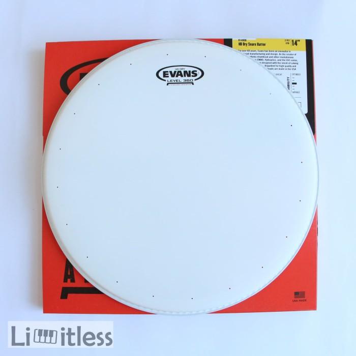 harga Evans head drum batter snare hd dry coated b14hdd Tokopedia.com