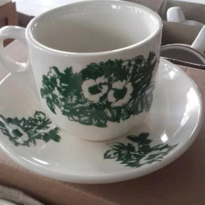 cangkir kopi teh bahan keramik asli design vintage Berkualitas