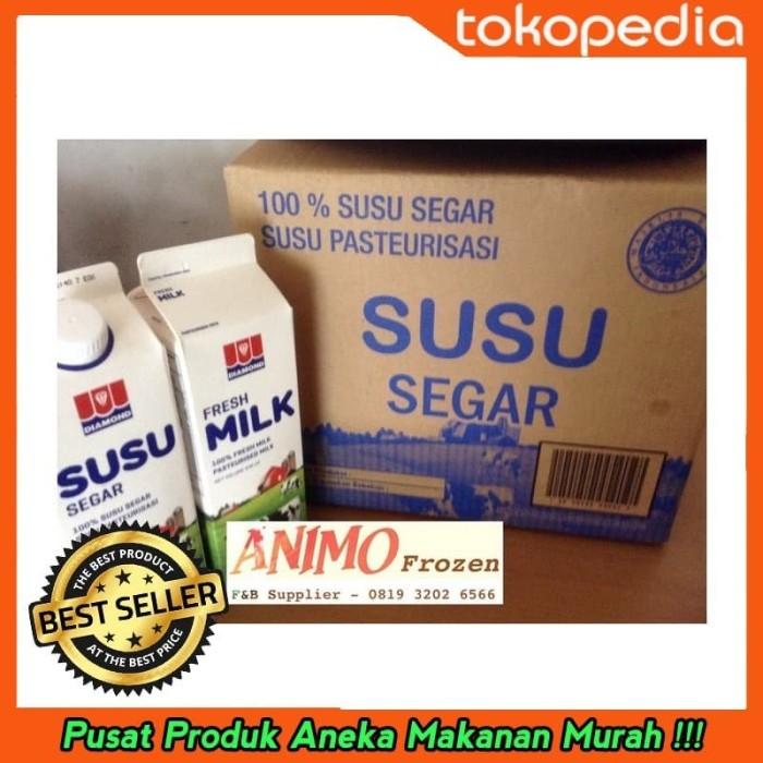 Jual Promo Spesial Fresh Milk Susu Segar Diamond Rasa Plain 1 Dus