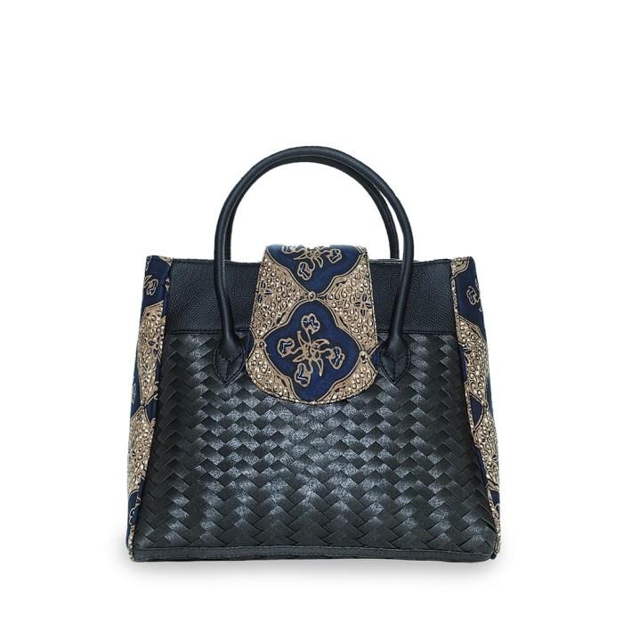 harga Chameo couture tas anyaman kulit asli batik tulis aleia - lupin Tokopedia.com