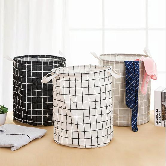 Foto Produk Laundry Bag Kain Tempat Simpan Baju Kotor Keranjang Pakaian StorageBox - Hitam dari Laris365