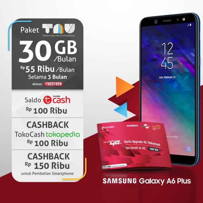 Jual Samsung A6 Plus Biru Telkomsel Os Tokopedia