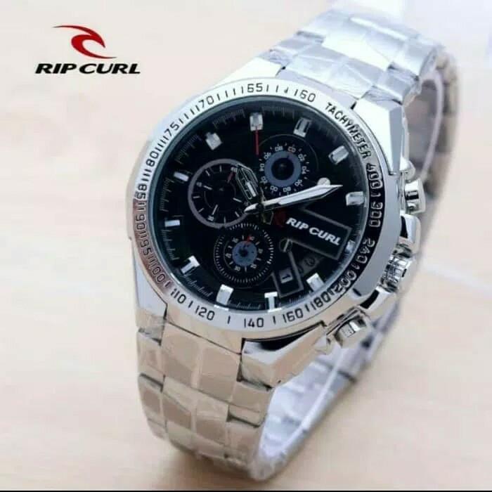 harga Jam tangan pria ripcul date crono on stainlist silver black Tokopedia.com