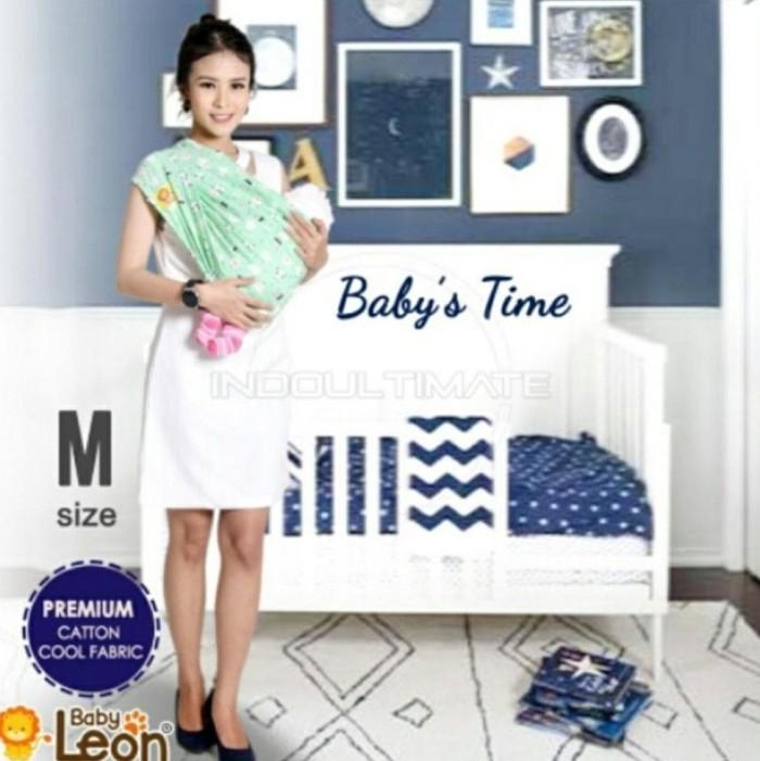 PREMIUM GEOS Gendongan Kaos Baby Leon Selendang Katun Slendang Bayi