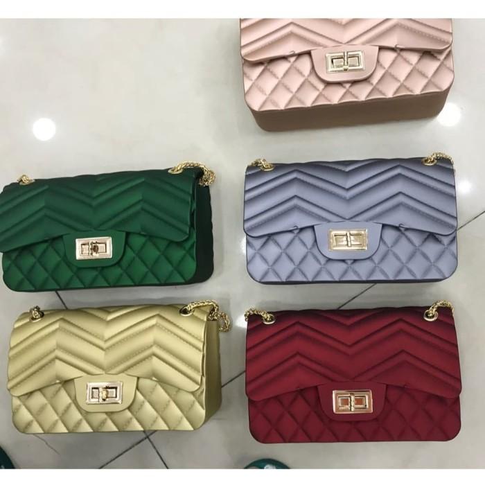 bf690af73f00 Jual TAS JELLY Matte Chanel Classic KOMBINASI (18 CM) Sling Bag ...