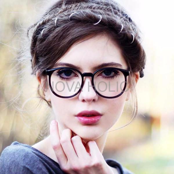 Indi Retro Round Clear Lens Fashion Glasses 14977 M Kacamata Pria ... d19ef03dff