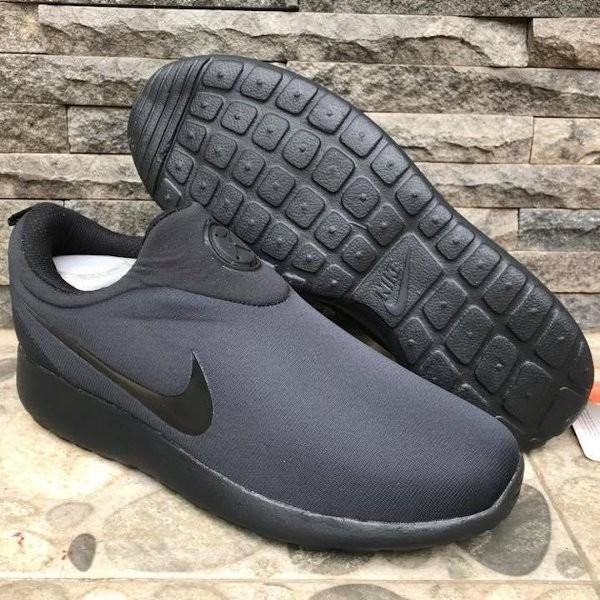 Jual Sepatu Nike Rosherun Slip On Hitam Polos Sneakers Pria   Wanita ... ef992876b1
