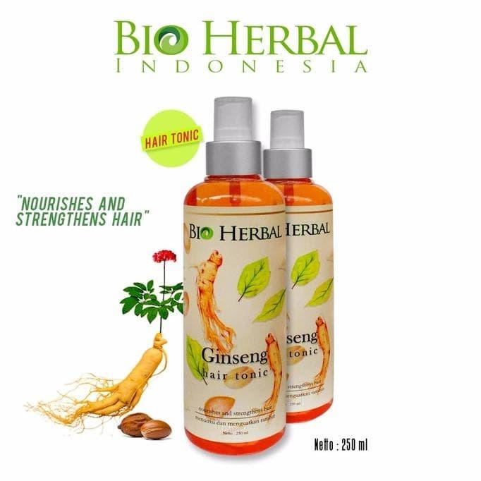 terlaris bio herbal hair tonic/ bio herbal ginseng hair tonic bpom