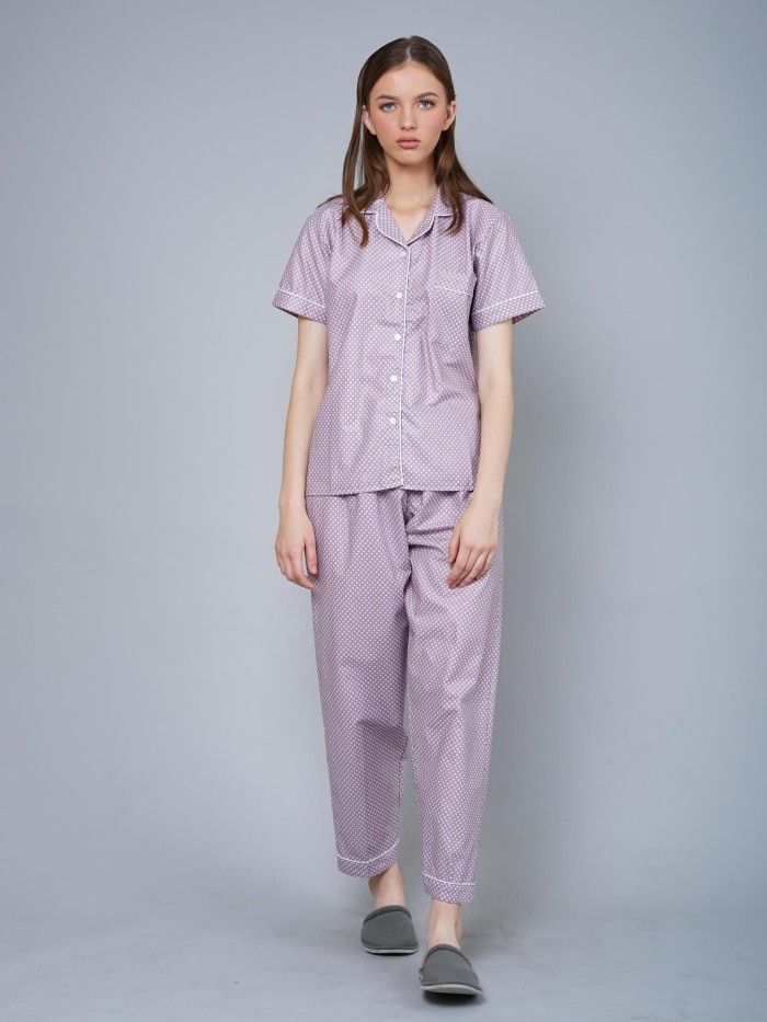 harga Just baju tidur piyama polka purple long pants - ungu l Tokopedia.com