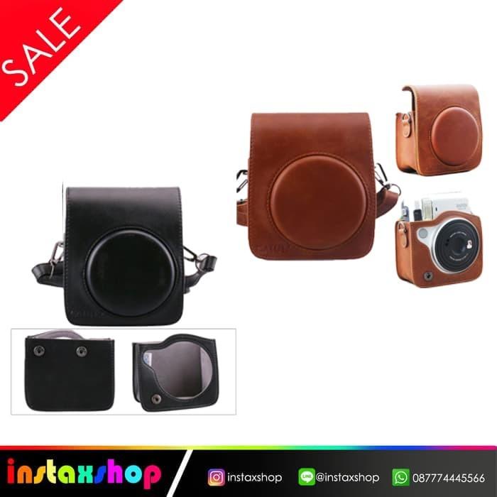 harga Leather bag fujifilm instax mini 70 / mini 70 pouch tas kamera - hitam Tokopedia.com