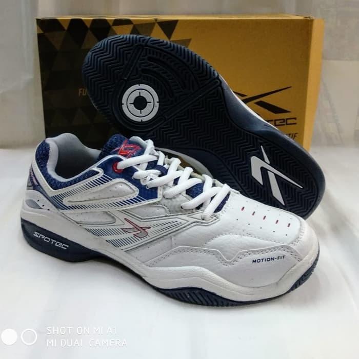 Jual sepatu tenis spotec nelson white navy.original spotec - Putih ... 30923a5d83