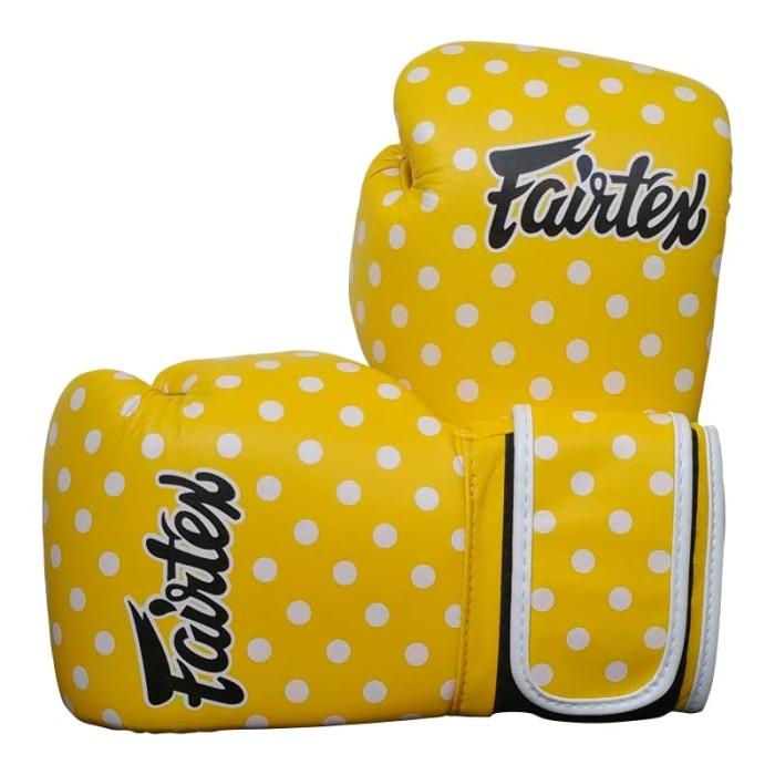 harga Fairtex boxing glove bgv14 yp - polkadotyellow (8oz) Tokopedia.com