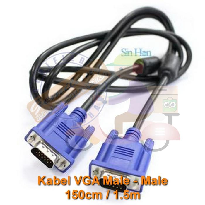 Foto Produk TP 1.5m Cable Kabel VGA Male to VGA Male DB 15pin DB-15 Analog D-Sub dari Gemilang Kompu Solusindo
