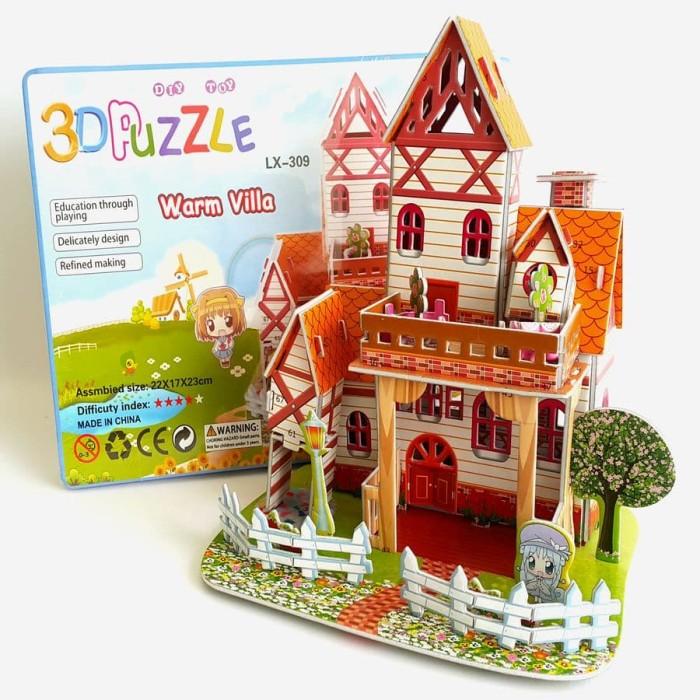 Foto Produk 3D Puzzle | Puzzle 3 Dimensi Villa | Mainan Edukasi | Mainan Edukatif dari Cherish Online