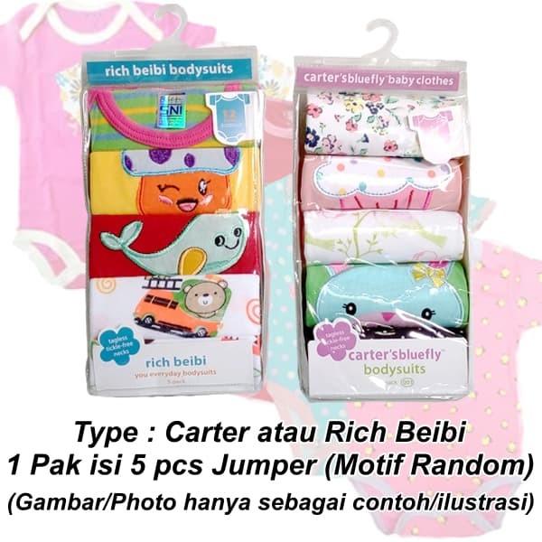 Baju Jumper Carter 5 in 1 Lengan Pendek Bayi Perempuan / Carters Baby