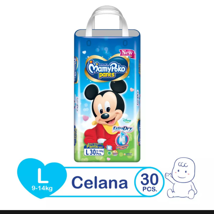 harga Mamypoko extra dry pants l30 l 30 mamy poko popok celana diaper Tokopedia.com