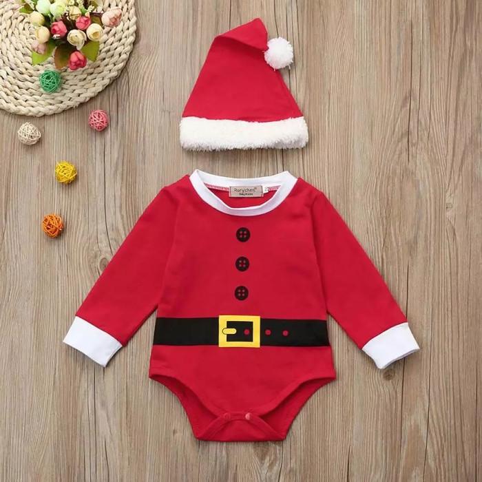 ... harga Romper cangcut sinterklas dengan topi for baby Tokopedia.com 9c903162eb