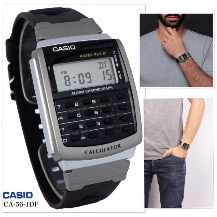 harga Casio calculator kalkulator jam tangan karet hitam ca-56-1d original Tokopedia.com