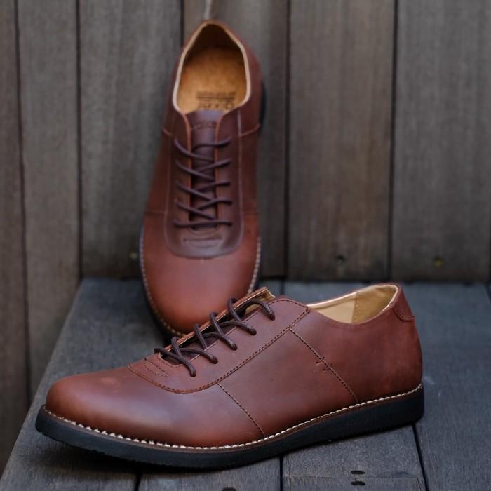 harga Oxwalker chester brown - sepatu kulit ch casual pria Tokopedia.com
