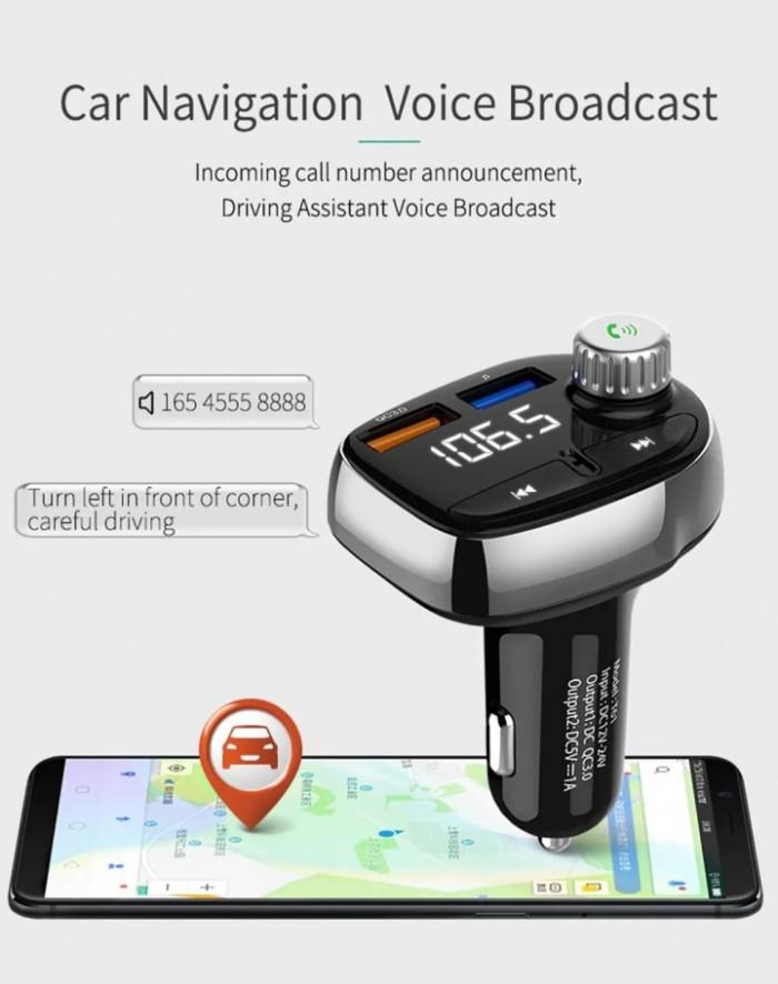 harga T61 dual usb car charger handsfree kit bluetooth fm radio mp3 player Tokopedia.com