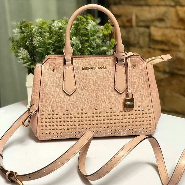 8cf15d686571 Jual Tas Michael Kors original - Mk hayes medium satchel pastel pink ...
