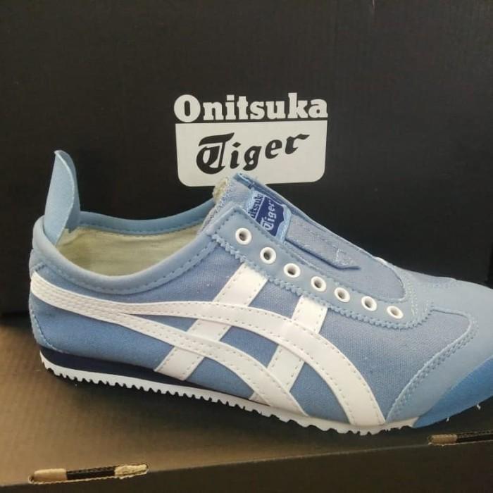 new arrival 0d629 b9936 Jual Sepatu Onitsuka Tiger Original - Biru Muda, 37 - DKI Jakarta - mamaDnR  | Tokopedia