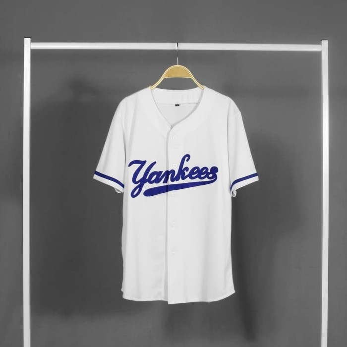 sneakers for cheap 1353d 50d25 Jual Baju baseball jersey baseball yankees putih - Kab. Bandung - DROPSHIP  FASHION   Tokopedia