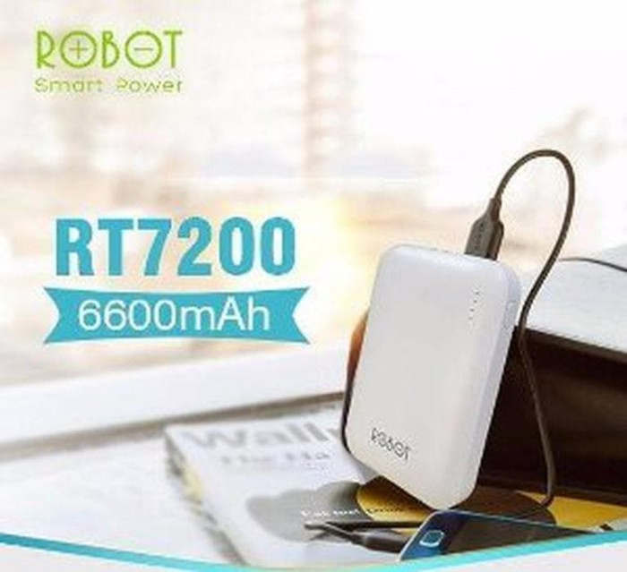 STOK TERAKHIR POWERBANK ROBOT RT7200 6600mAh POWER BANK RT 7200 6600