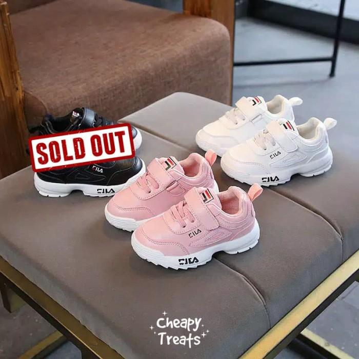 Sepatu Sneakers Kets Anak Bayi Baby Kids Fila Disruptor II Look-A-Like b3e73e1af8