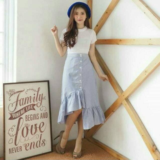422b96a3 Jual Best Seller ZARA STRIPE RUFFLE SKIRT - DKI Jakarta - Tsany Shop ...