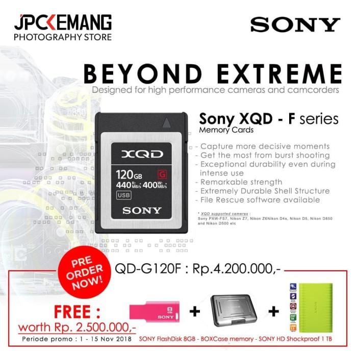 harga Sony 120gb g series xqd-g120f memory card garansi resmi Tokopedia.com