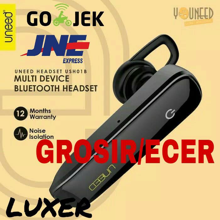 harga Uneed headset earphone bluetooth wireless uhs01b - black apple android Tokopedia.com