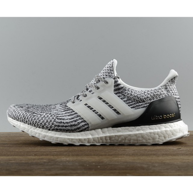 e5ccecfe31c Jual original adidas ultra boost 3.0 zebra black grey running shoes ...