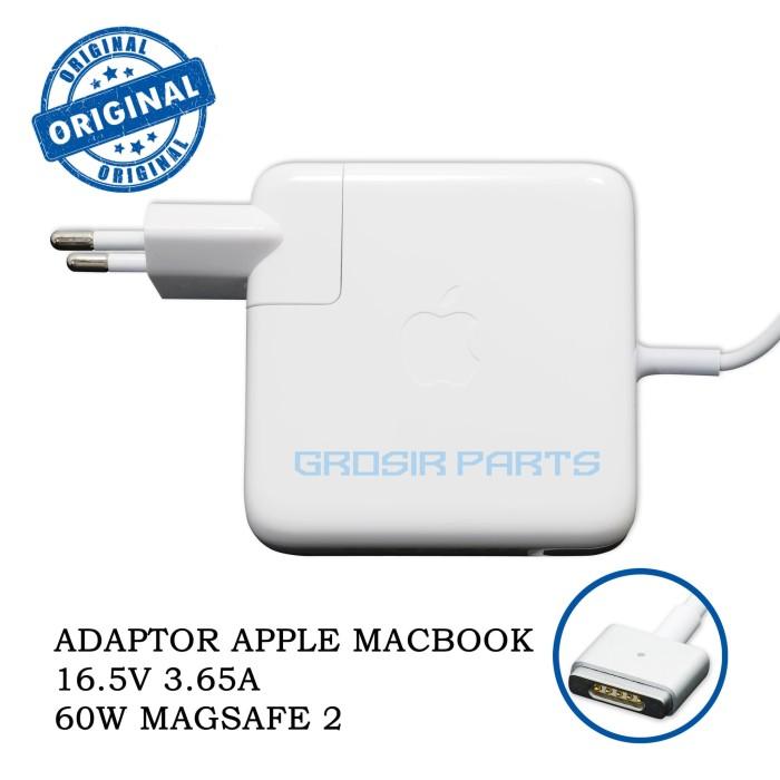Foto Produk ADAPTOR MACBOOK AIR APPLE 60W MAGSAFE 2 16.5V 3.25A T TIP ORIGINAL dari Grosir Part